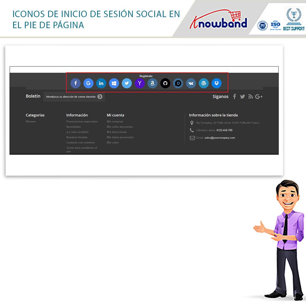 module - Botones de inicio de Sesión/Conexión - Knowband-Acceso Social 14 in 1,Estadísticas & MailChimp - 3