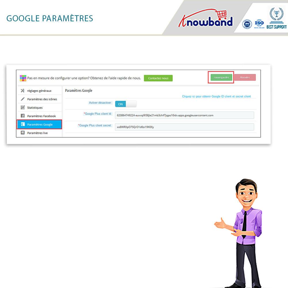 module - Boutons Login & Connect - Knowband- SocialLogin,14 en 1,Statistiques et MailChimp - 7