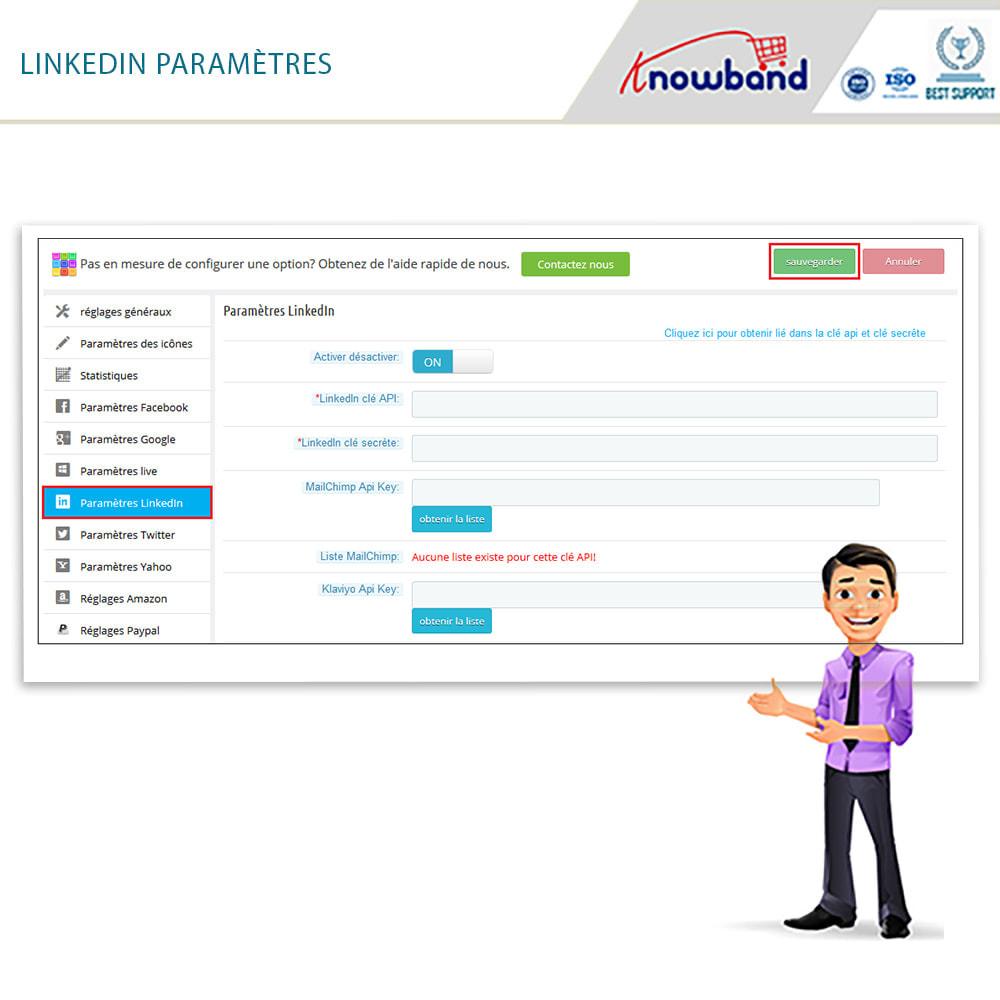 module - Boutons Login & Connect - Knowband- SocialLogin,14 en 1,Statistiques et MailChimp - 9