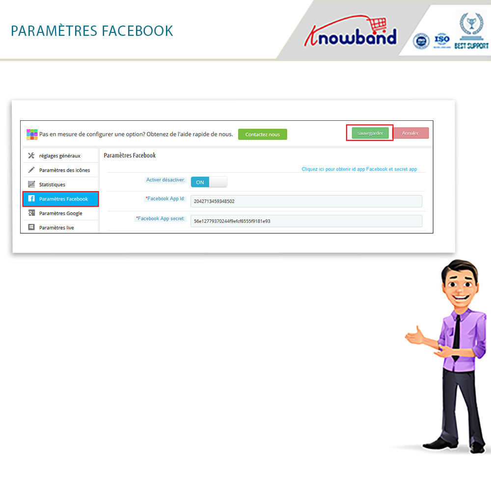 module - Boutons Login & Connect - Knowband- SocialLogin,14 en 1,Statistiques et MailChimp - 15