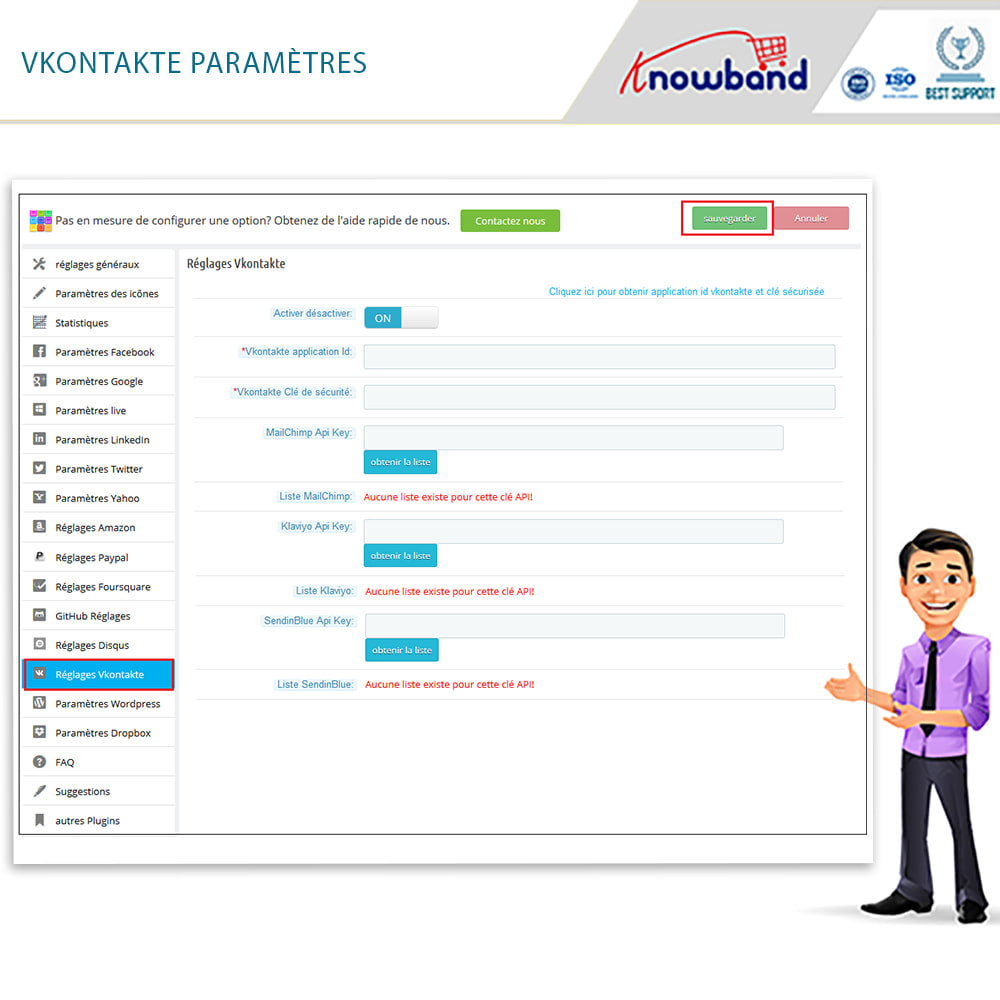 module - Boutons Login & Connect - Knowband- SocialLogin,14 en 1,Statistiques et MailChimp - 21