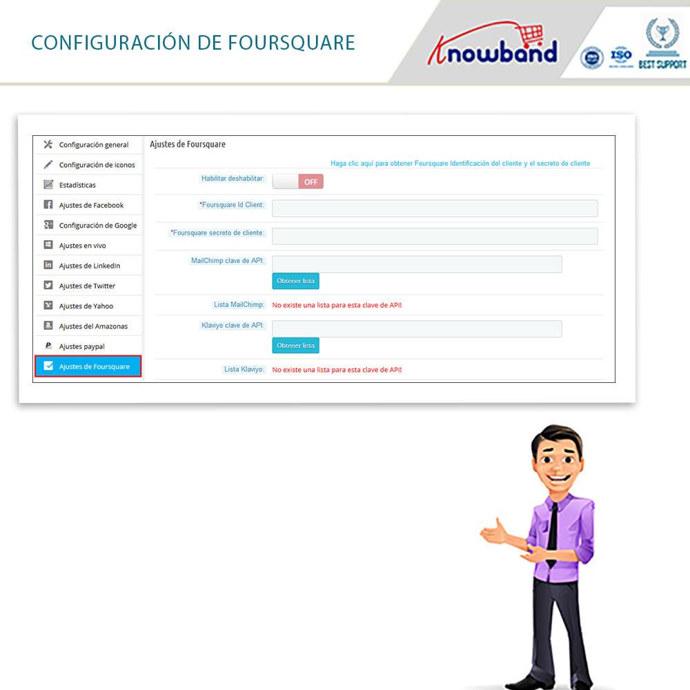 module - Botones de inicio de Sesión/Conexión - Knowband-Acceso Social 14 in 1,Estadísticas & MailChimp - 9