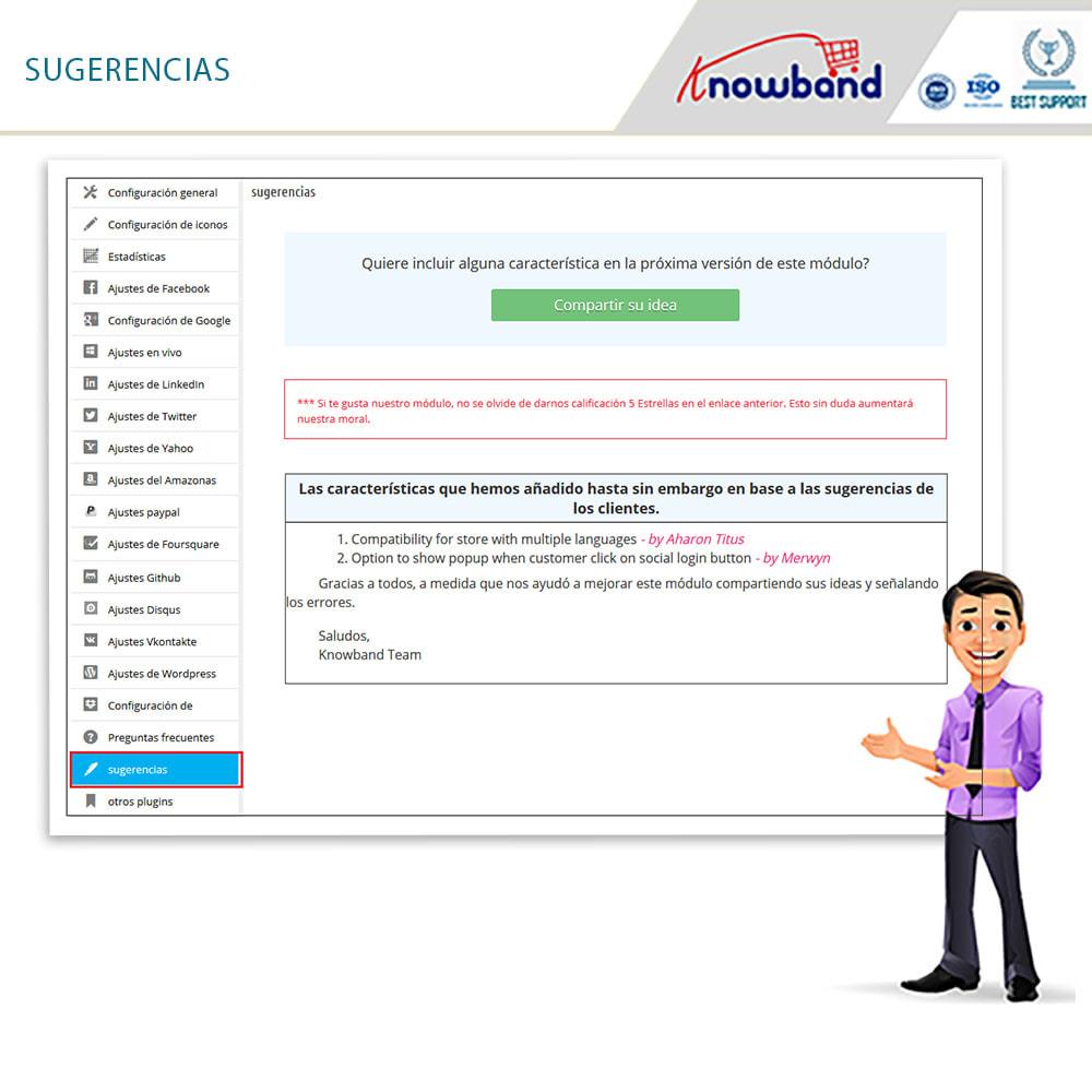 module - Botones de inicio de Sesión/Conexión - Knowband-Acceso Social 14 in 1,Estadísticas & MailChimp - 19