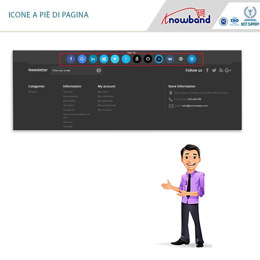 module - Login/Connessione - Knowband - Social Login 14 in 1,Statistiche & MailChimp - 3