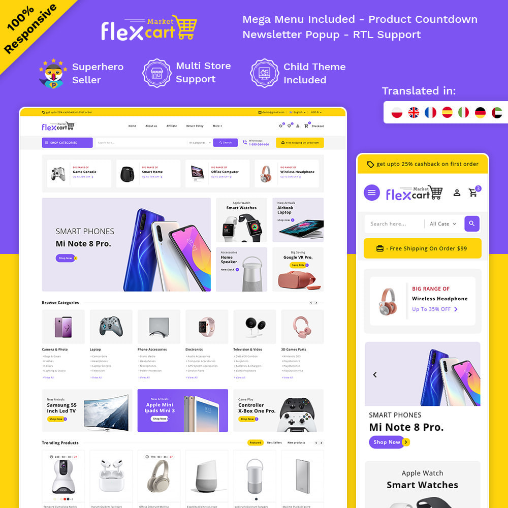 theme - Elektronika & High Tech - Flexcart - Mega Electronic Super Store - 1