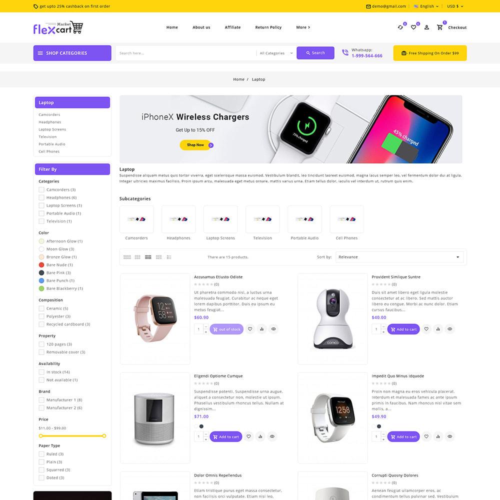 theme - Elektronika & High Tech - Flexcart - Mega Electronic Super Store - 6