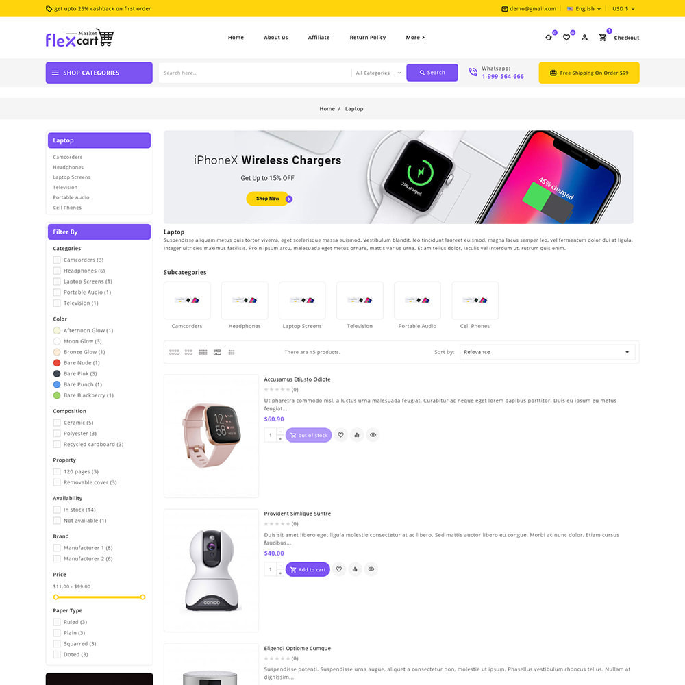 theme - Elektronika & High Tech - Flexcart - Mega Electronic Super Store - 7
