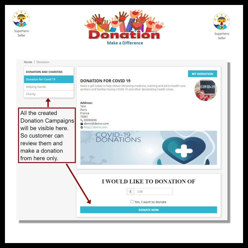 module - Altri Metodi di Pagamento - Donation for Charity, Relief, and Support - 7