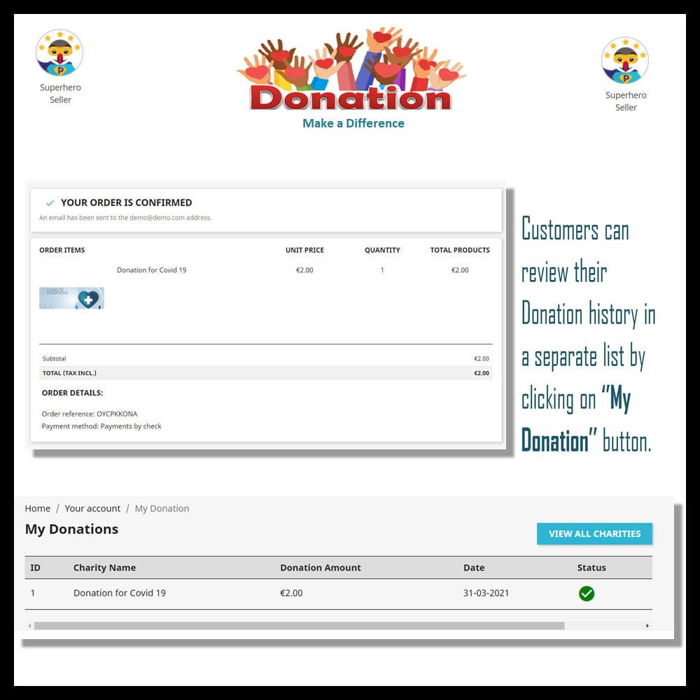 module - Altri Metodi di Pagamento - Donation for Charity, Relief, and Support - 8