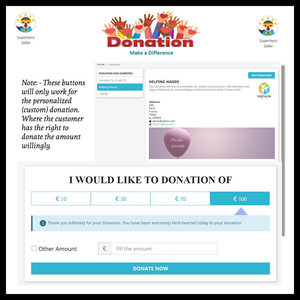 module - Altri Metodi di Pagamento - Donation for Charity, Relief, and Support - 16