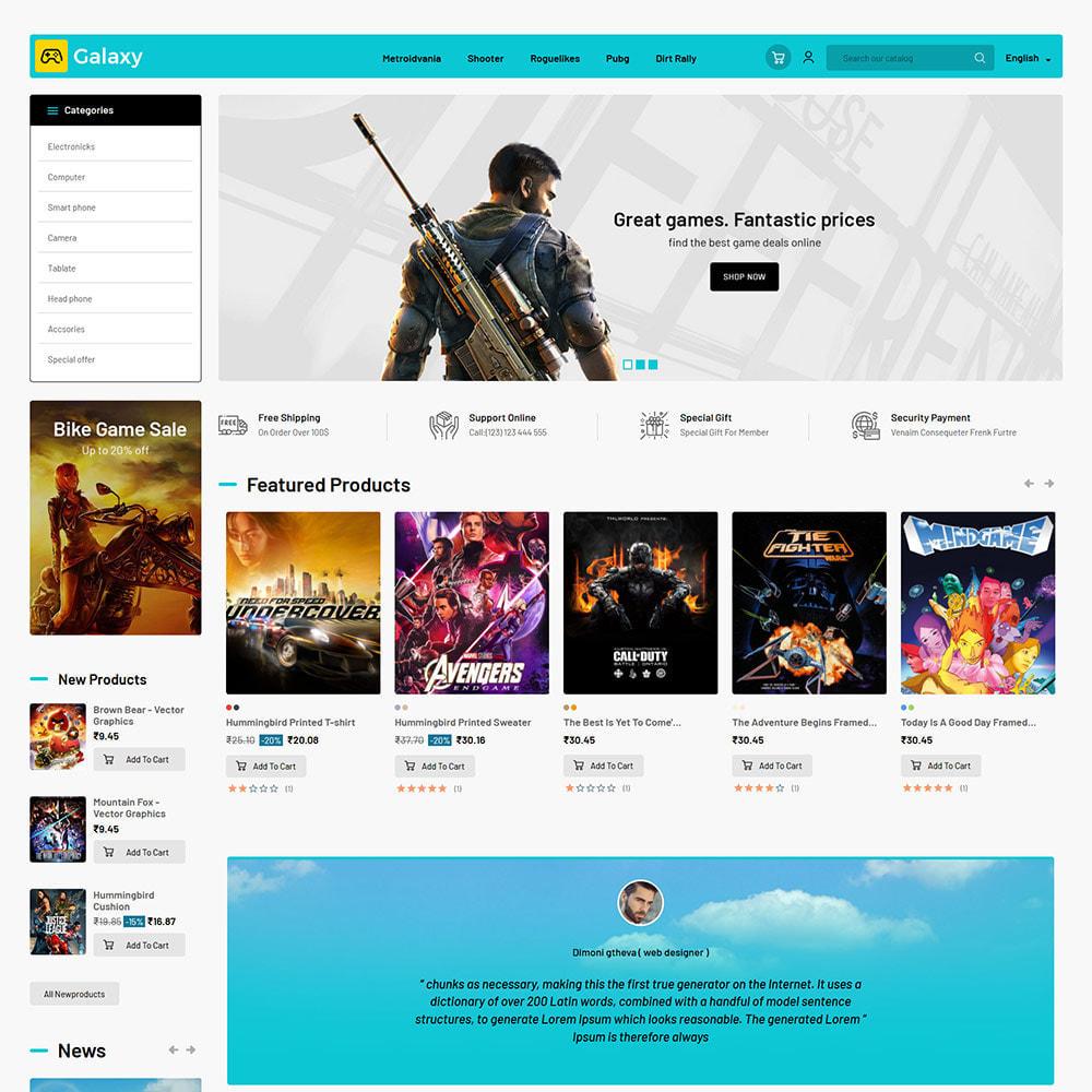 theme - Kinder & Spielzeug - Galaxy Game Zone - Digitaler Spielwarenladen - 3