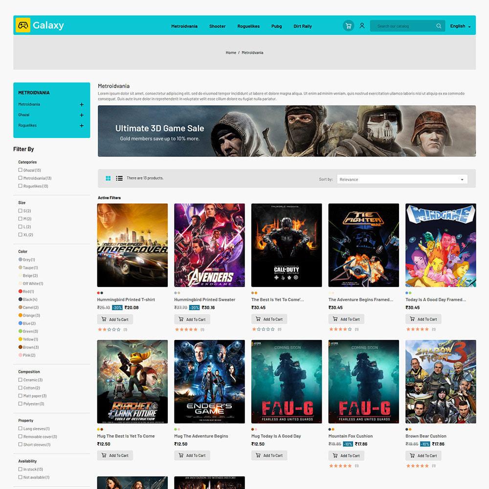 theme - Zabawki & Artykuły dziecięce - Galaxy Game Zone - Cyfrowy sklep z zabawkami do gier - 4