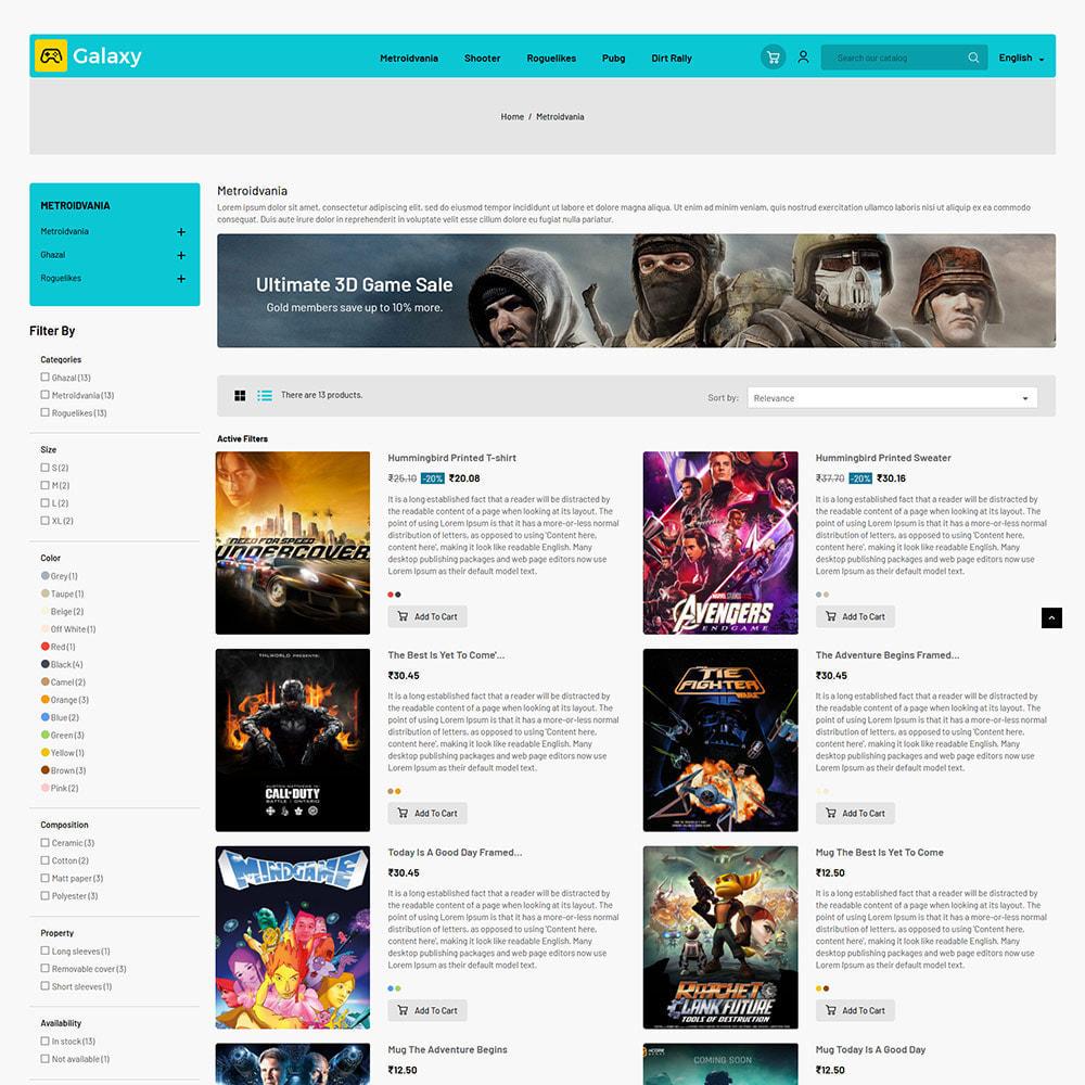 theme - Zabawki & Artykuły dziecięce - Galaxy Game Zone - Cyfrowy sklep z zabawkami do gier - 5