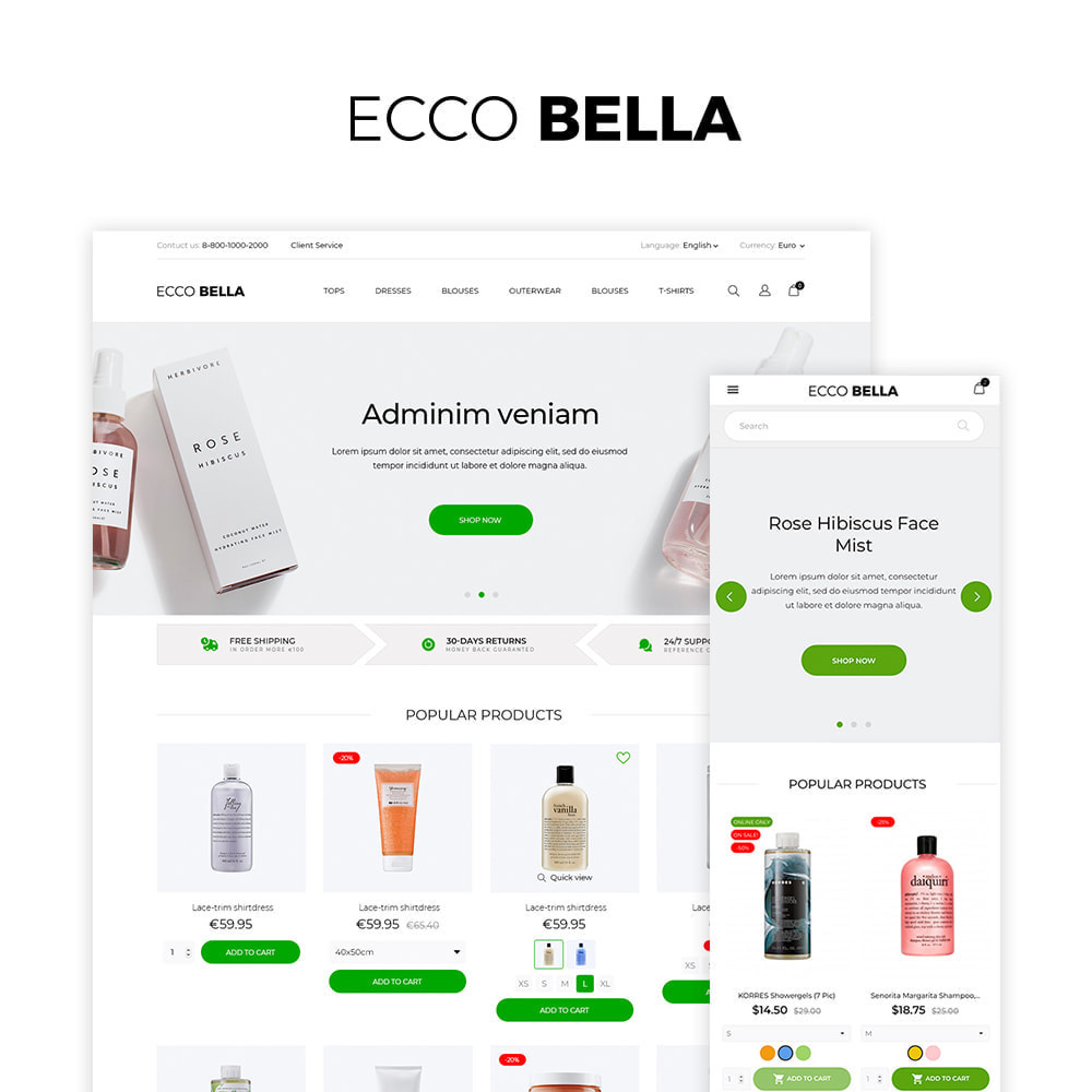 theme - Zdrowie & Uroda - Ecco Bella Cosmetics - 1