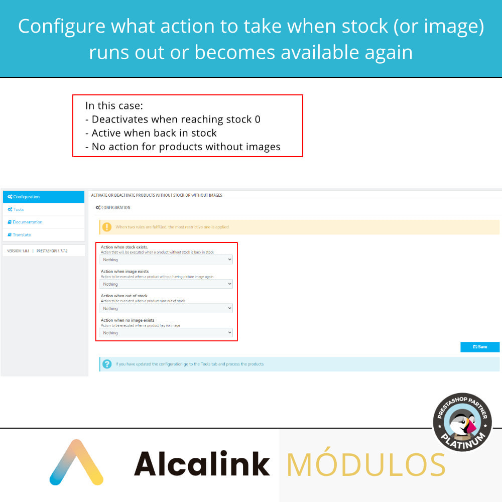module - Estoques & Fornecedores - Activate/deactivate products without stock or image - 2