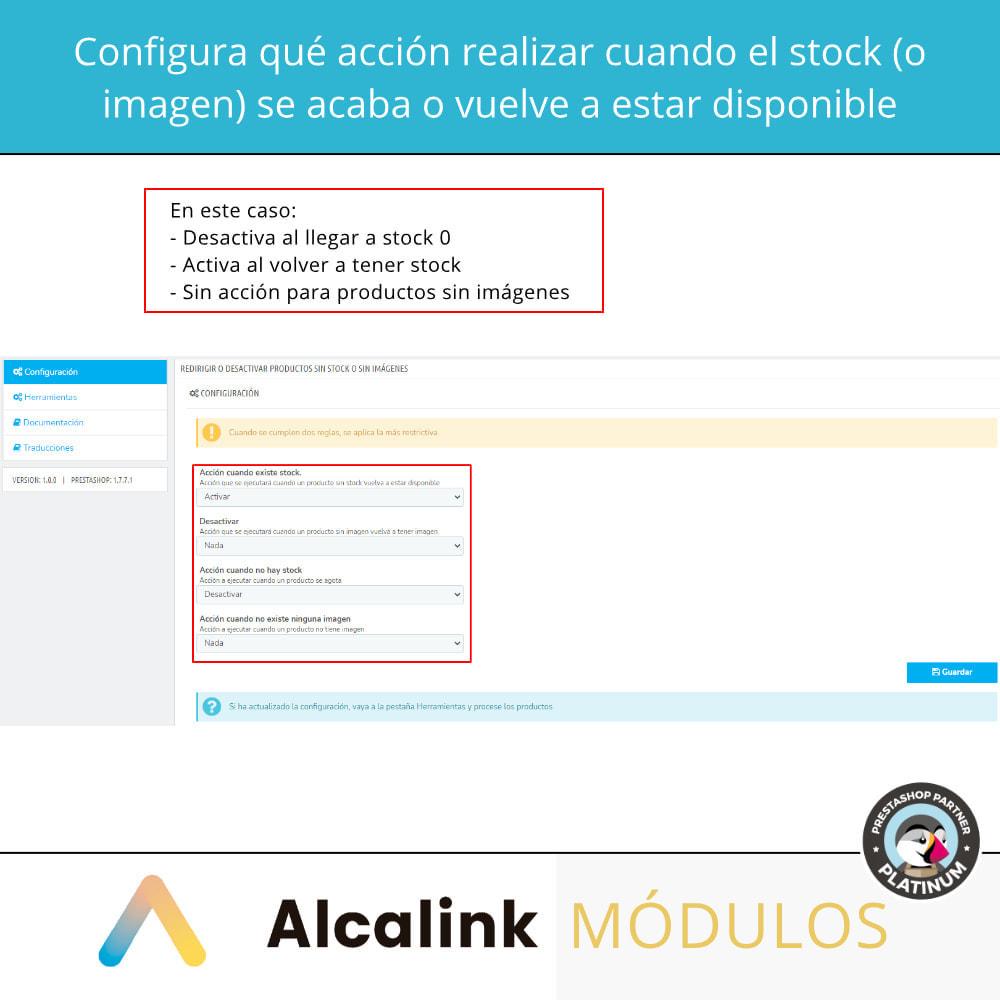 module - Gestión de Stock y de Proveedores - Activa/desactiva productos sin stock o sin imagen - 2