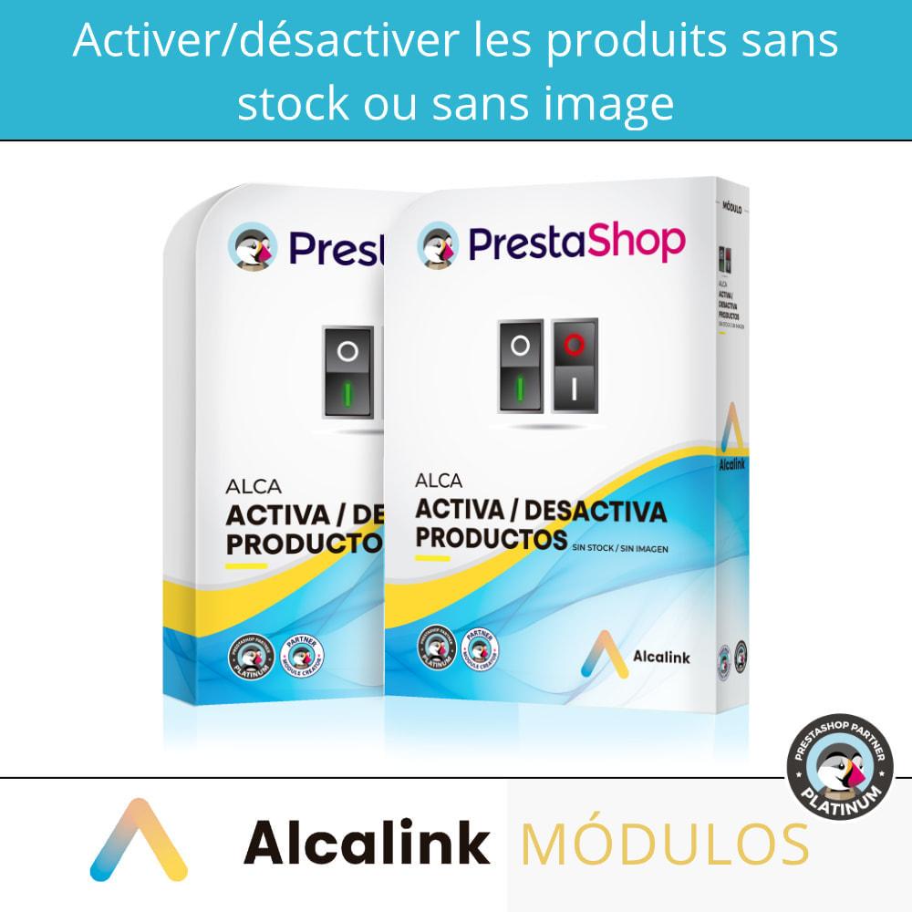 module - Gestion des Stocks & des Fournisseurs - Activer/désactiver les produits sans stock ou image - 1