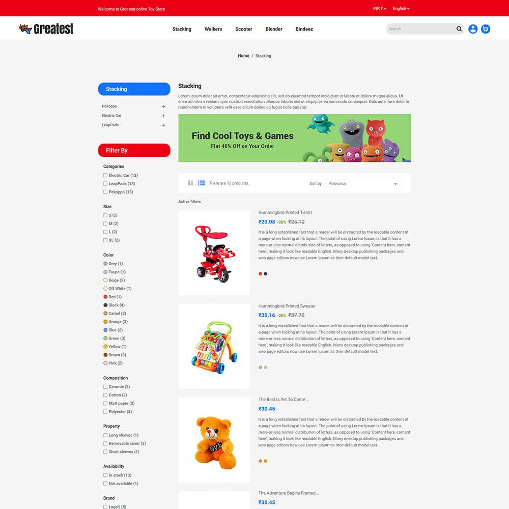 theme - Zabawki & Artykuły dziecięce - Greatest Toy - Puzzle Game Kids Store - 5
