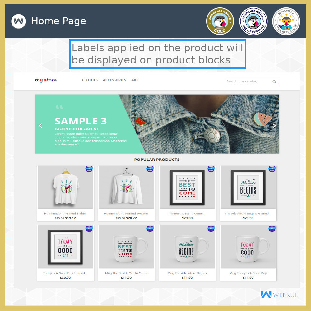 module - Badges & Logos - Product Label | Product Sticker - 6