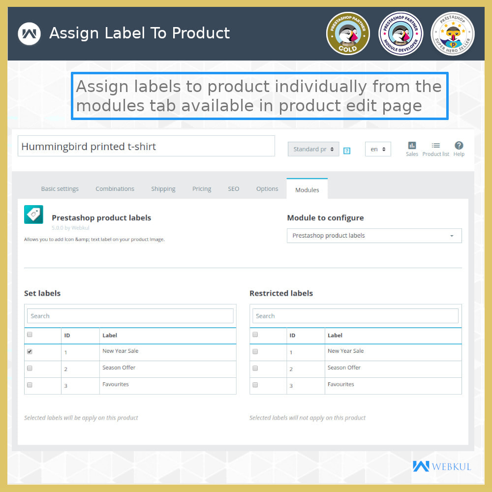 module - Badges & Logos - Product Label | Product Sticker - 11