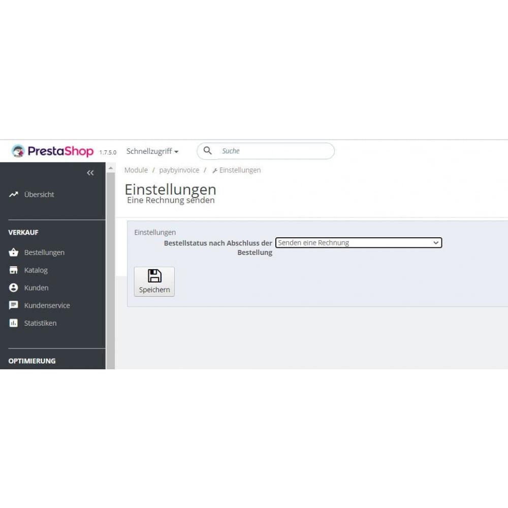 module - Zahlung auf Rechnung - Eine Rechnung senden - 2