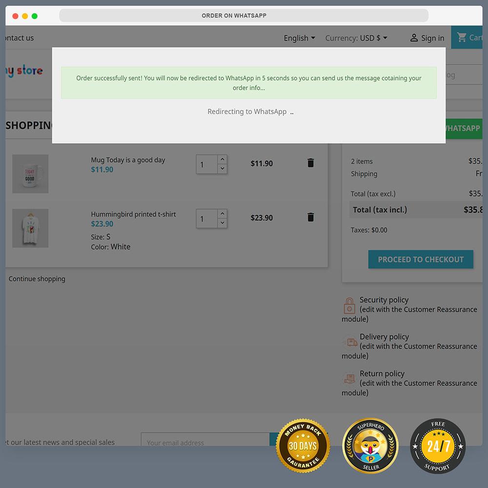module - Asistencia & Chat online - Integración de WhatsApp PRO: pedido, chat, agentes - 10