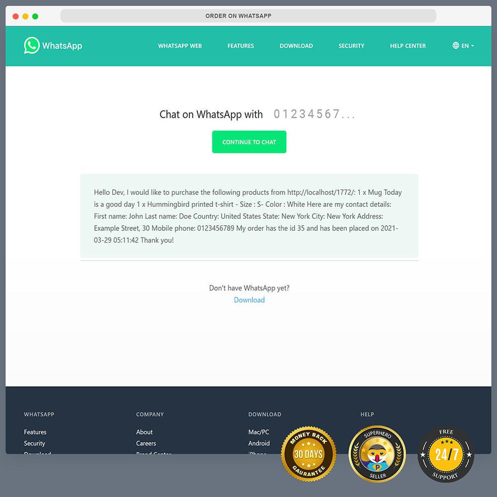 module - Support & Online-Chat - WhatsApp Integration PRO - Bestellung, Chat, Agenten - 11