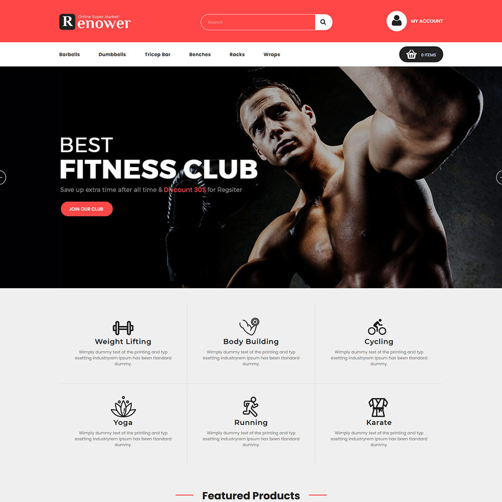 theme - Sports, Activities & Travel - Gym Athletic Club - Health Exercise Circus Store - 2