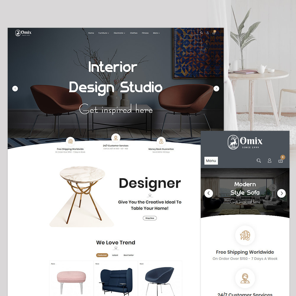 theme - Casa & Jardins - Omix Furniture Store - 1