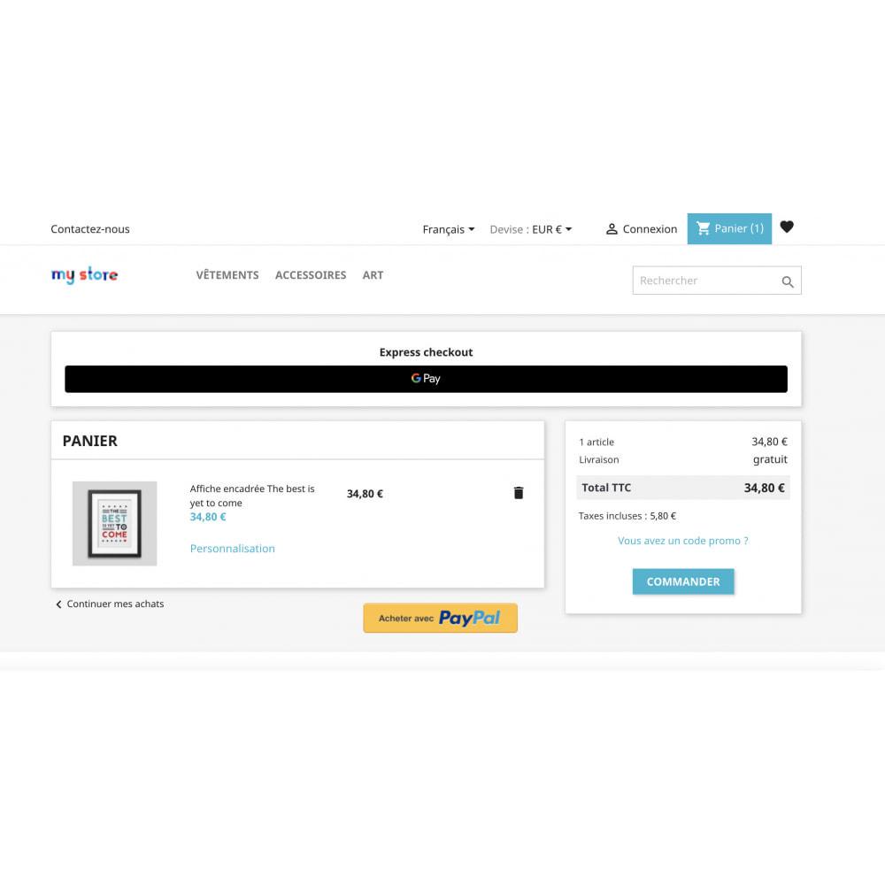 module - Процесс заказа - Apple Pay / Google Pay - 1 Click Checkout - 3
