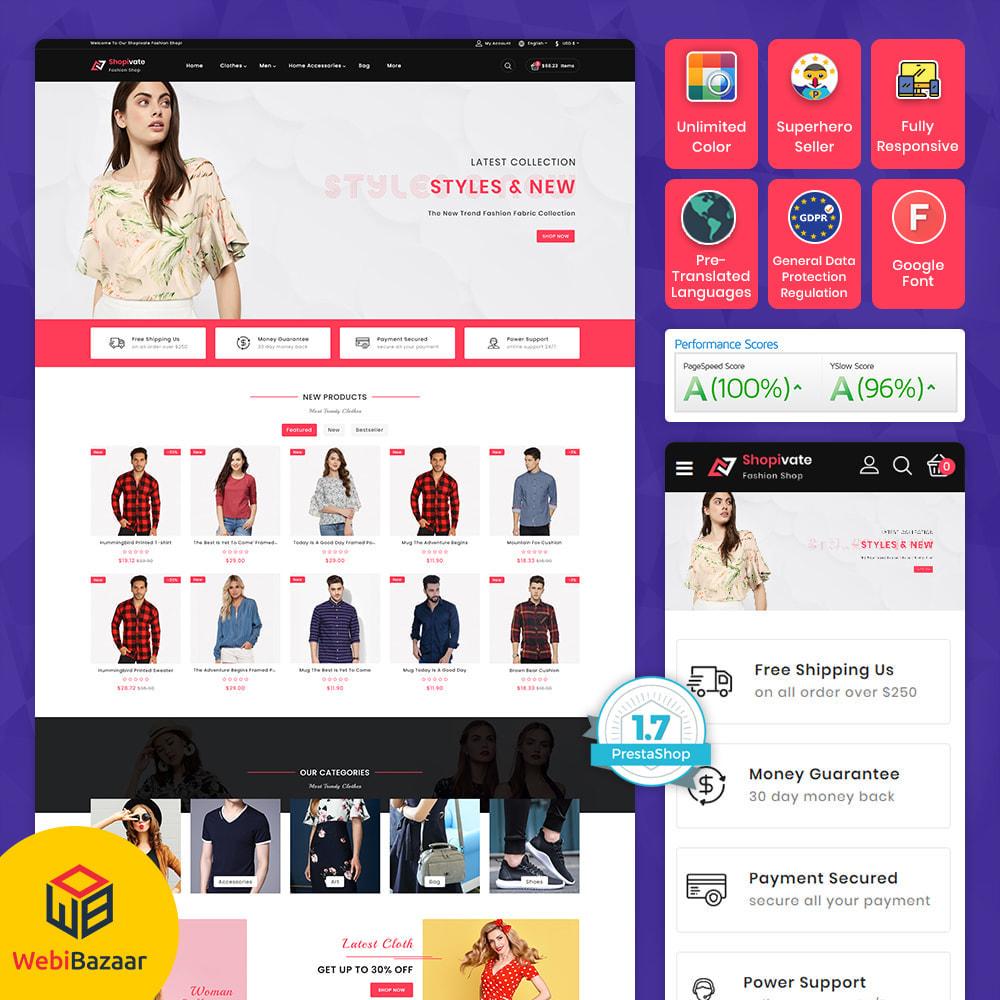 theme - Fashion & Shoes - Shopivate -  The Fashion Shop - 1