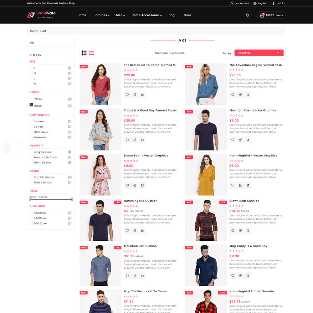 theme - Fashion & Shoes - Shopivate -  The Fashion Shop - 4