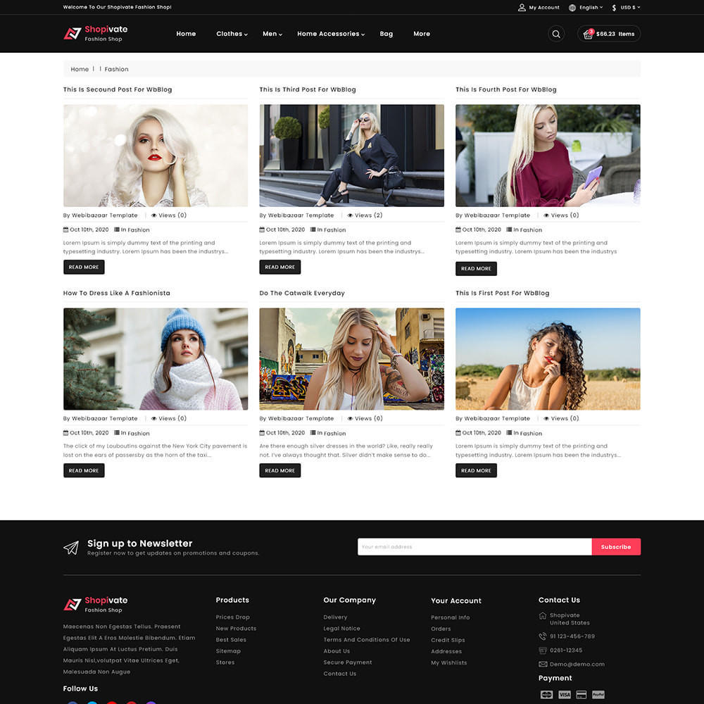 theme - Fashion & Shoes - Shopivate -  The Fashion Shop - 6