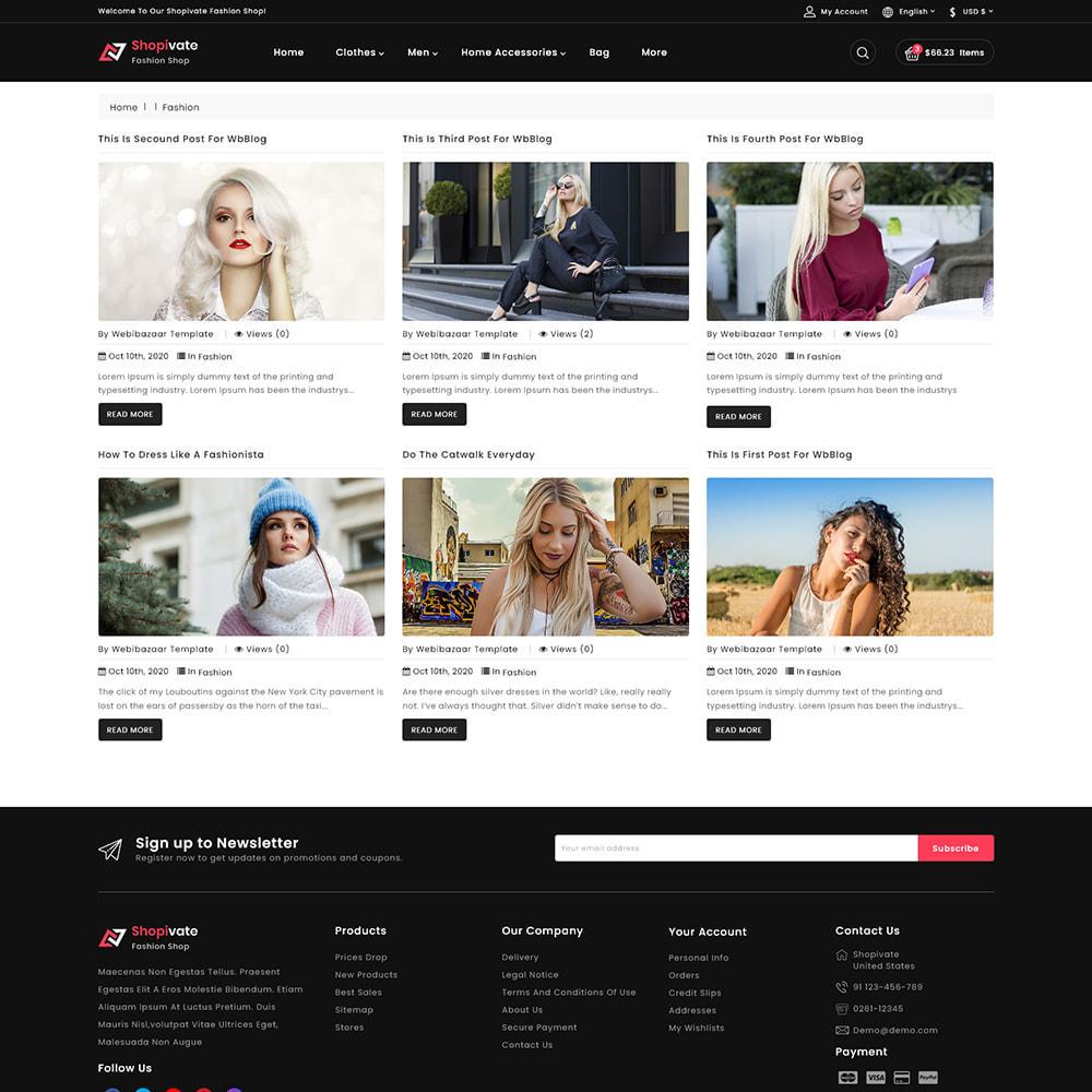 theme - Fashion & Shoes - Shopivate -  The Fashion Shop - 7