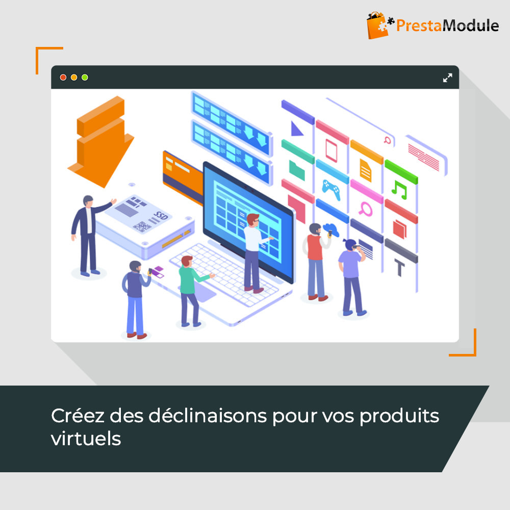 module - Produits virtuels (téléchargeables) - Virtual Products with Combinations - 1