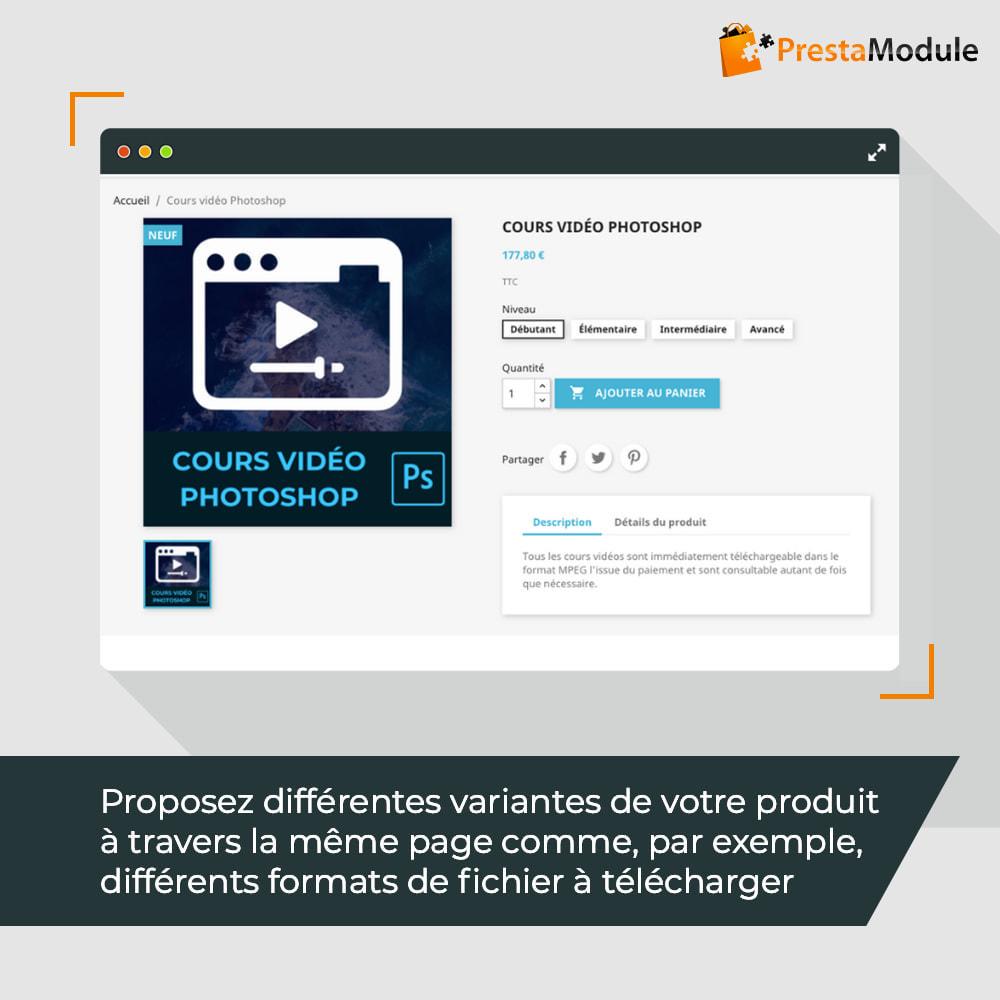 module - Produits virtuels (téléchargeables) - Virtual Products with Combinations - 2