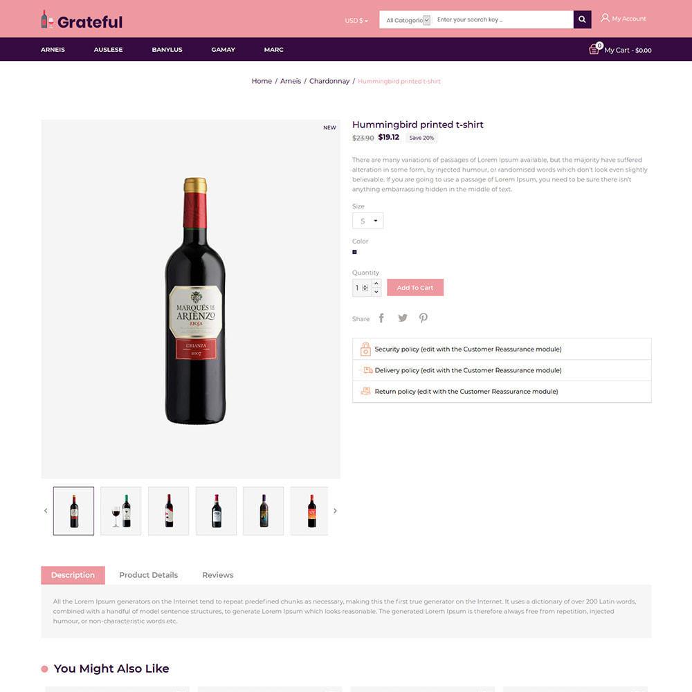 theme - Bebidas y Tabaco - Vino - Tienda de vino tinto de cerveza de alcohol - 6
