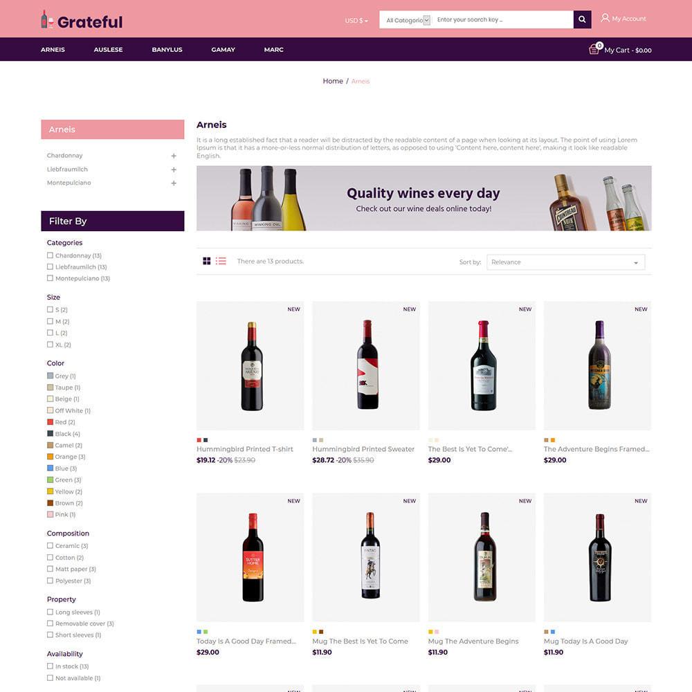 theme - Getränke & Tabak - Dankbarer Wein - Alkohol Bier Rotweinladen - 4