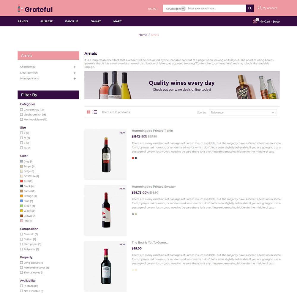 theme - Napoje & Wyroby tytoniowe - Wdzięczne wino - Sklep z piwem czerwonym winem - 4