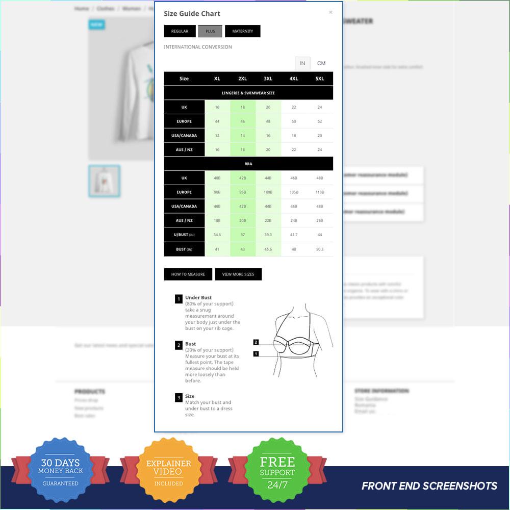 module - Omvang en eenheden - Size Guidance - Product Size Chart - 3