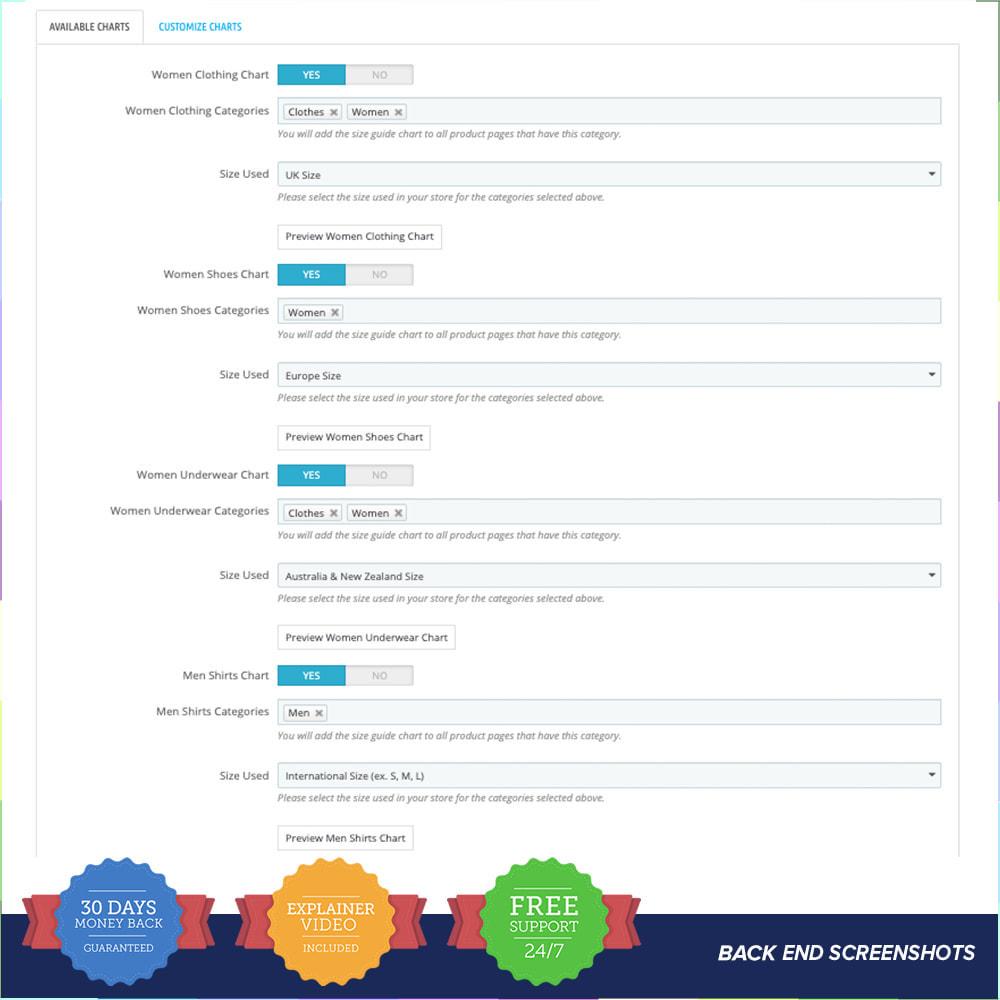 module - Omvang en eenheden - Size Guidance - Product Size Chart - 4