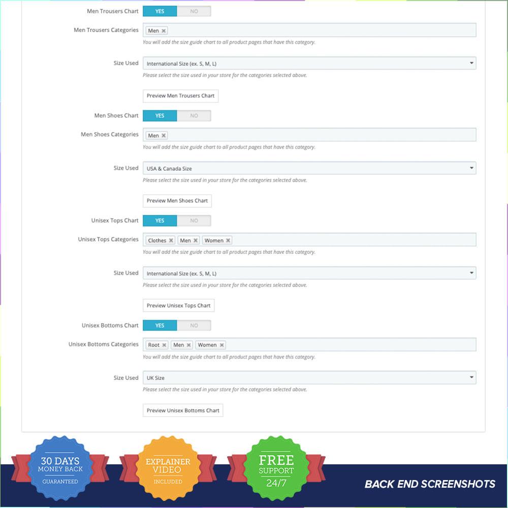module - Omvang en eenheden - Size Guidance - Product Size Chart - 5