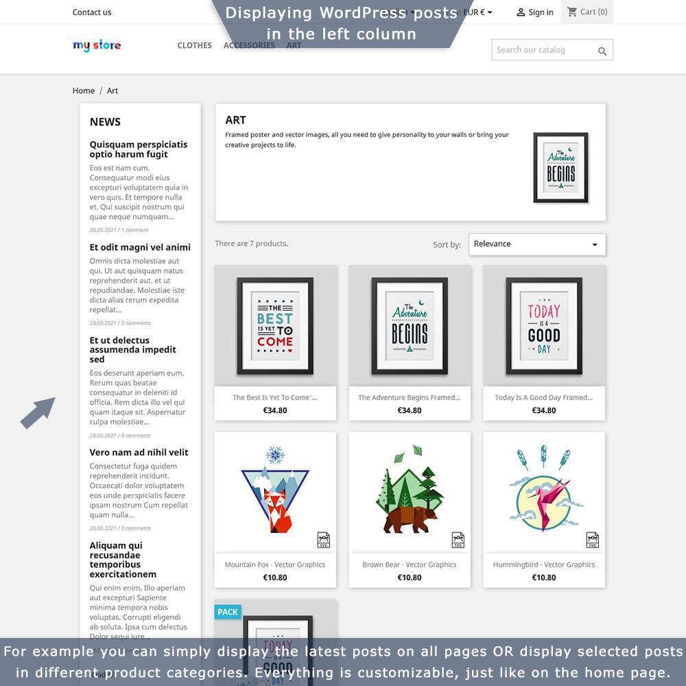 module - Blog, Forum & Nieuws - PrestaShop-WordPress two-way integration - 3