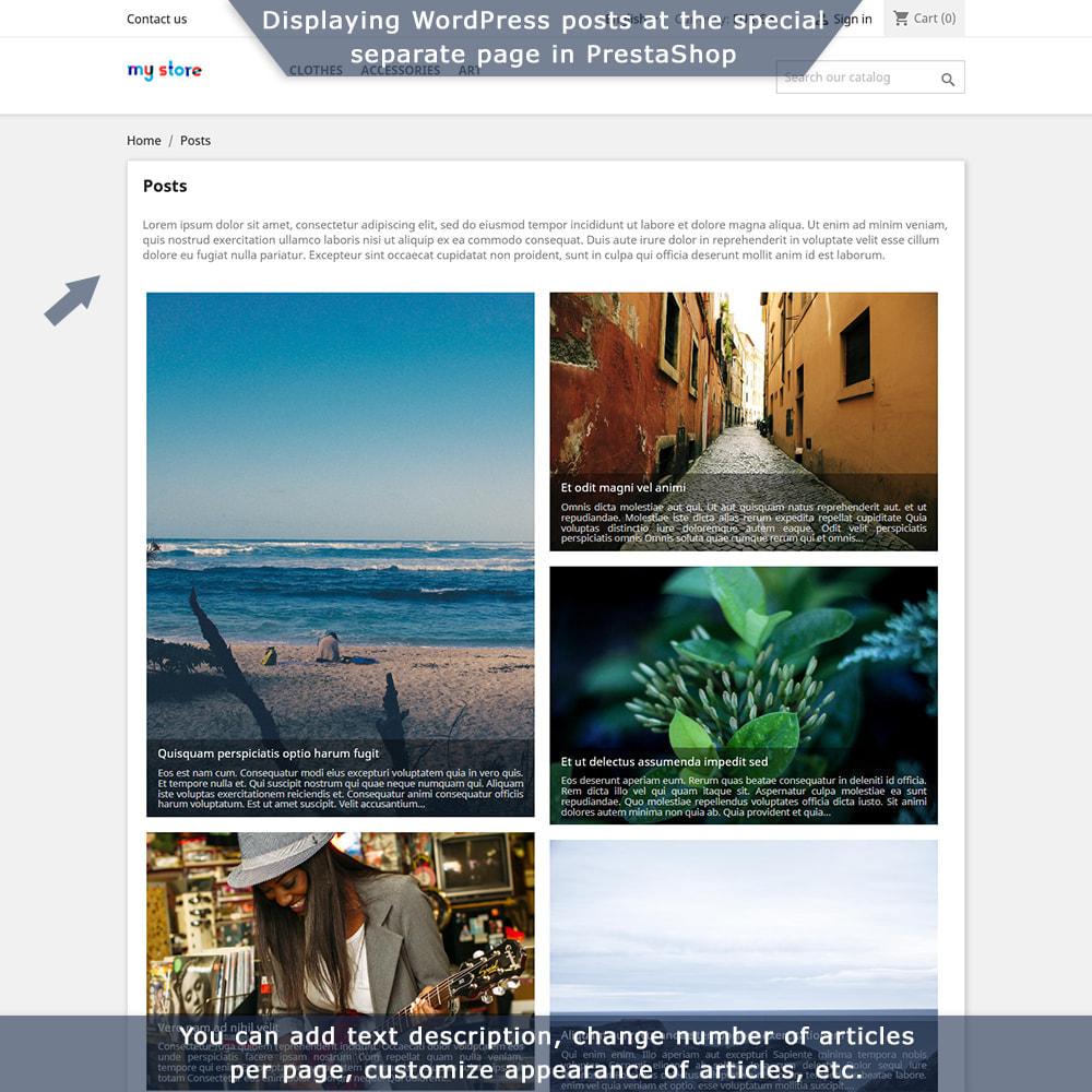 module - Blog, Forum & Nieuws - PrestaShop-WordPress two-way integration - 5