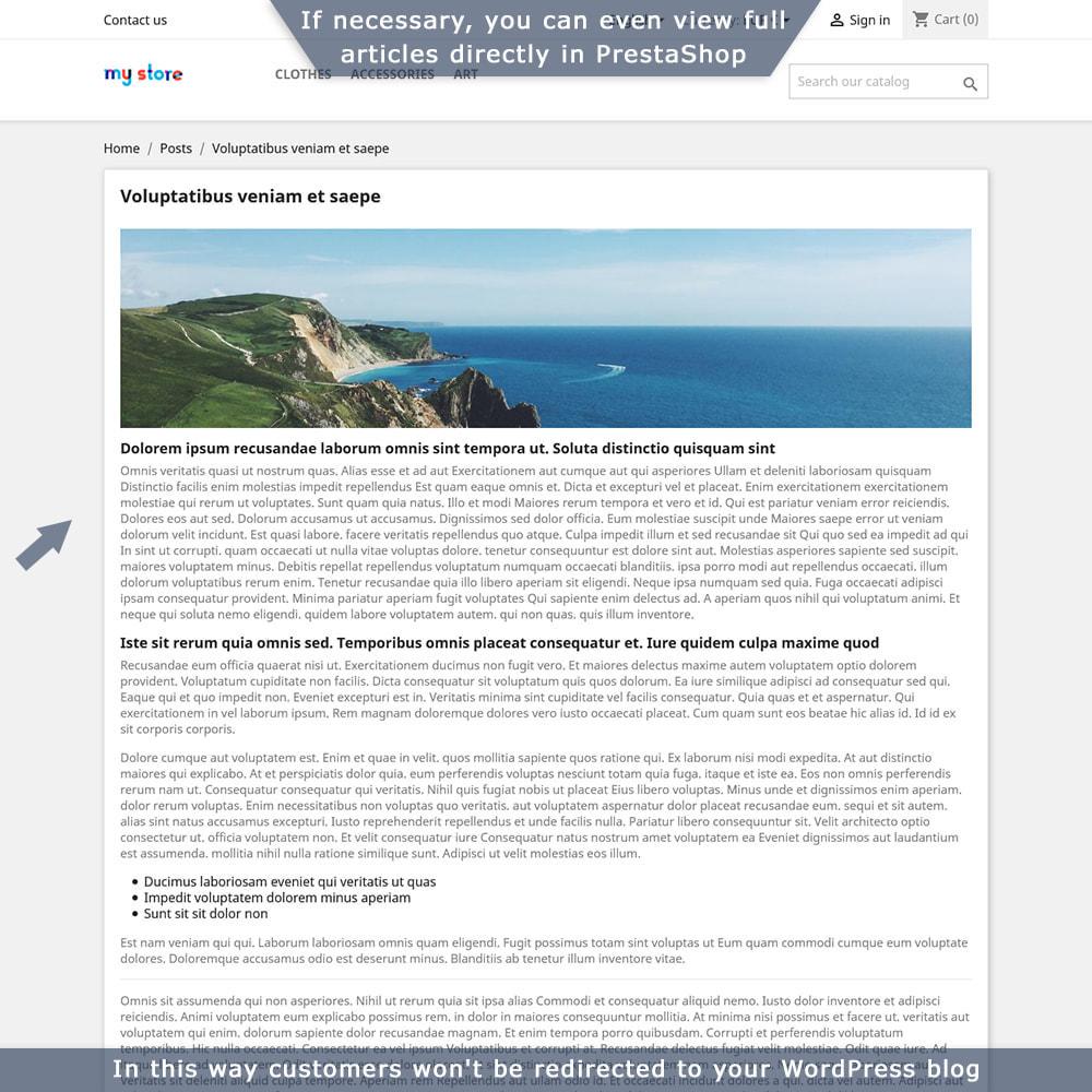 module - Blog, Forum & Nieuws - PrestaShop-WordPress two-way integration - 6