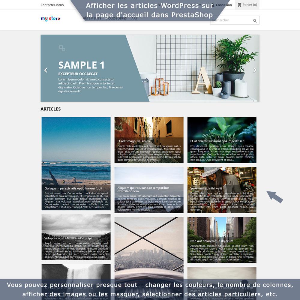 module - Blog, Forum & Actualités - Intégration bidirectionnelle PrestaShop-WordPress - 1