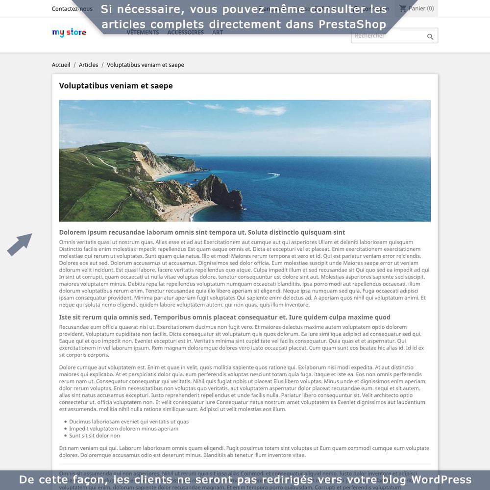 module - Blog, Forum & Actualités - Intégration bidirectionnelle PrestaShop-WordPress - 6