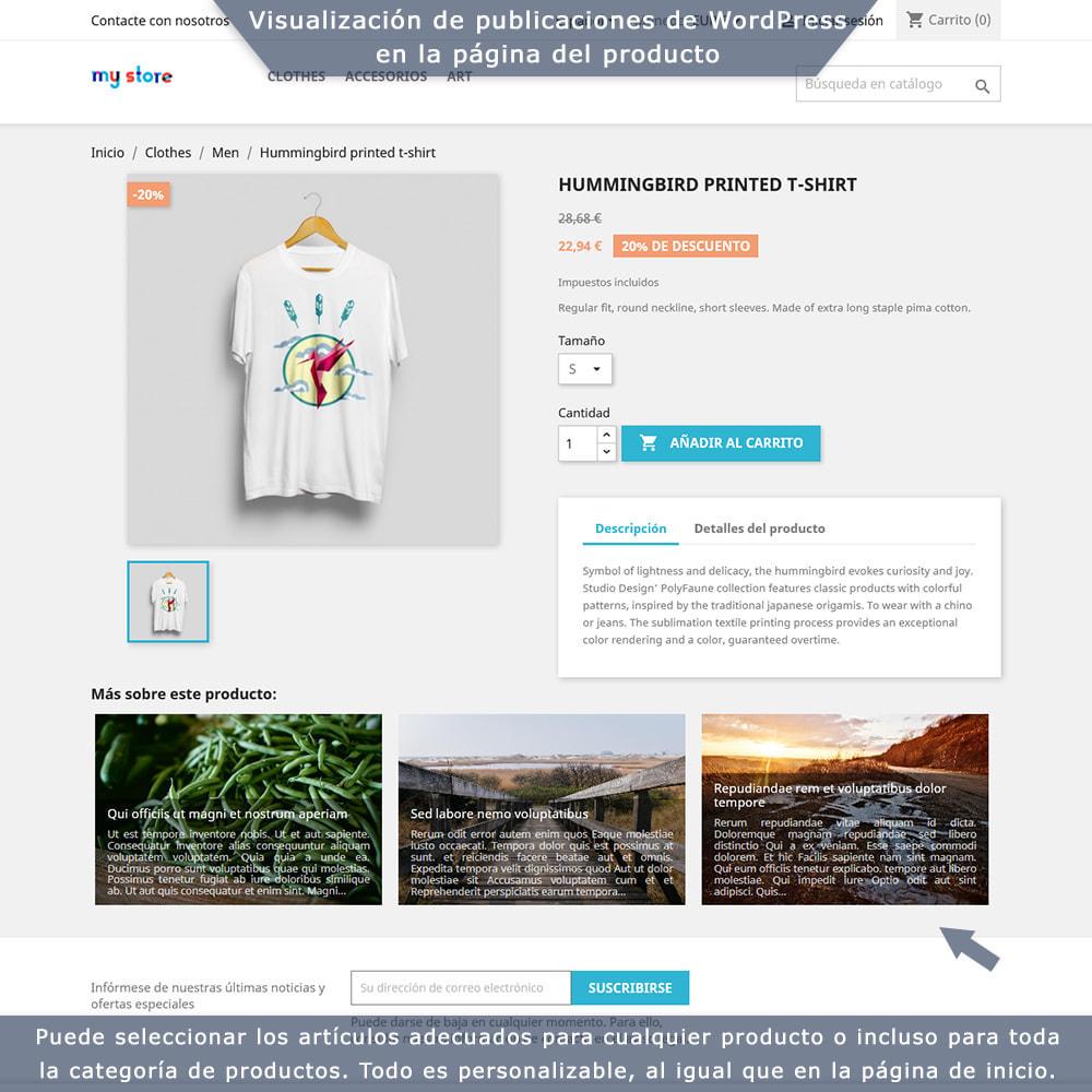 module - Blog, Foro y Noticias - Integración bilateral de PrestaShop y WordPress - 2