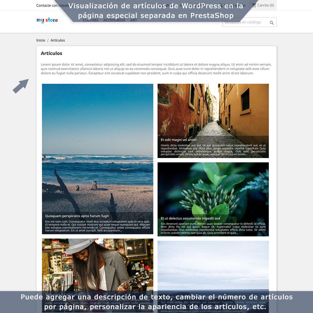 module - Blog, Foro y Noticias - Integración bilateral de PrestaShop y WordPress - 5