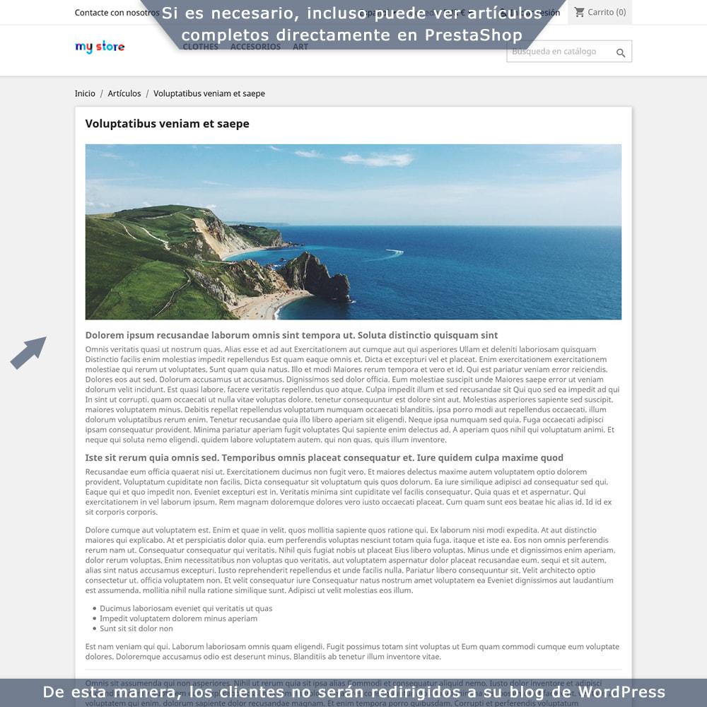 module - Blog, Foro y Noticias - Integración bilateral de PrestaShop y WordPress - 6